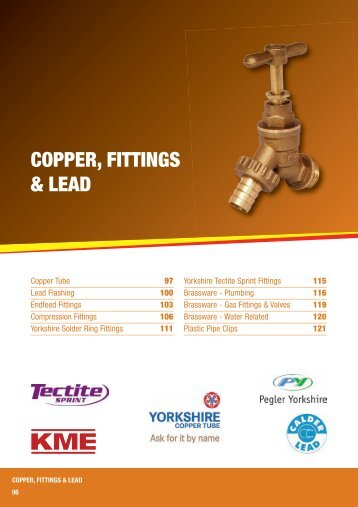 COPPER, FITTINGS & LEAD - City Plumbing Supplies
