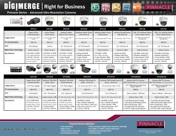 Pinnacle Series - Advanced Ultra Resolution Cameras ... - Digimerge