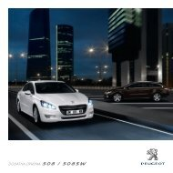 DODATNA OPREMA 508 / 508SW - Peugeot