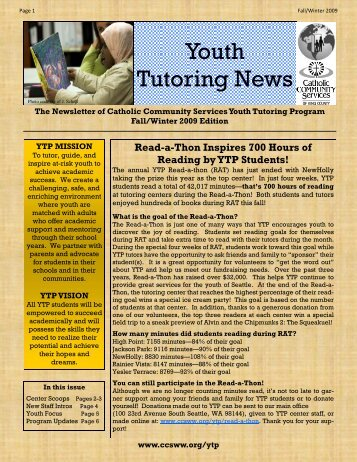 YTP Fall Winter Newsletter - Catholic Community Services