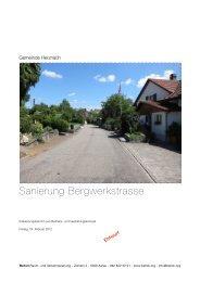 Erläuterungsbericht mit KS - Gemeinde Herznach