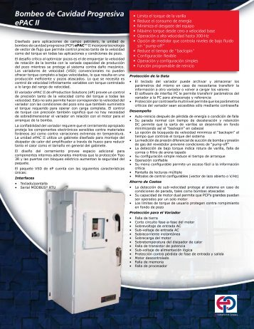 ePAC II PCP Spanish - eProduction Solutions