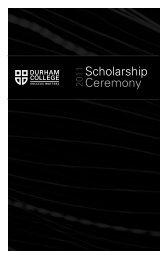 Scholarship Ceremony - Durham College