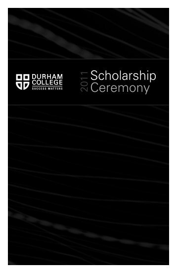 Scholarship Ceremony - Durham College
