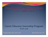 Career Educator Internship Program - The Career Center - Florida ...