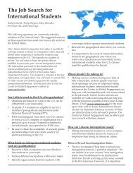The Job Search for International Students - The Career Center ...