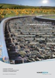 Umwelterklärung 2012 (3,11 MB) - voestalpine