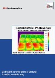 Solarindustrie: Photovoltaik - Otto Brenner Shop