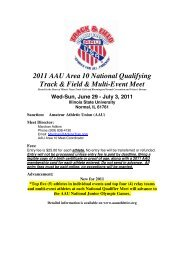 2011 AAU National Qualifier Area 10 - Chicago Flyers Track Club