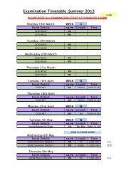 Summer 2013 Final GCSE Timetable