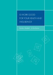 Is Work Good for your Health and Wellbeing - Employability in ...