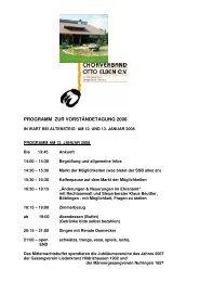 Programm Wart 2008 und Anfahrt - Chorverband Otto Elben eV