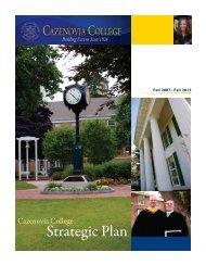 Strategic Plan - Cazenovia College