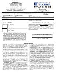 Bid Documents - UF Purchasing - University of Florida