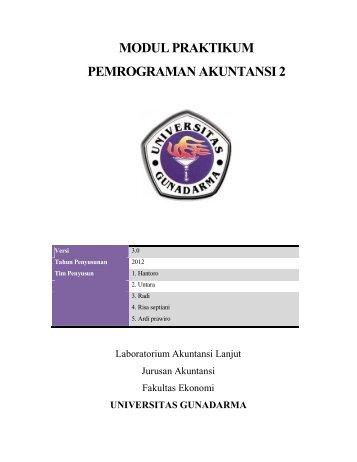 modul praktikum pemrograman akuntansi 2 - iLab - Universitas ...