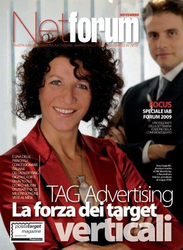 leggi l'articolo completo su Netforum di novembre 2009 - TAG ...