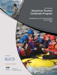 BC Provincial Adventure Tourism Certificate Program - LinkBC