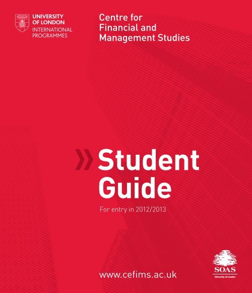 Student Guide - The School of Oriental and African Studies
