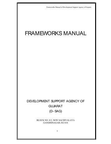 FRAMEWORKS MANUAL - Tribal Development Department