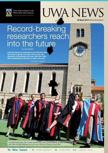 Issue 02. 22 March 2010 - UWA Staff - The University of Western ...