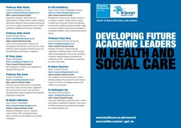 Developing future academic leaders in health and social care