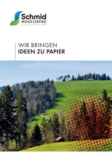 Broschüre Classicprint - Schmid Mogelsberg