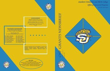 Newsbrief 2007 - Southern University at Baton Rouge