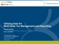 Utilizing Data for Multi-State Tax Management and ... - Broadridge