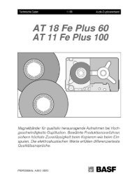 AT 18 Fe Plus 60 AT 11 Fe Plus 100 - NEW HiFi-Classic