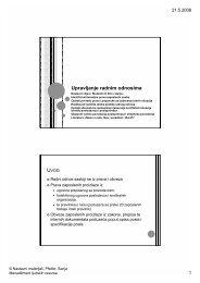 11. predavanje: Upravljanje radnim odnosima