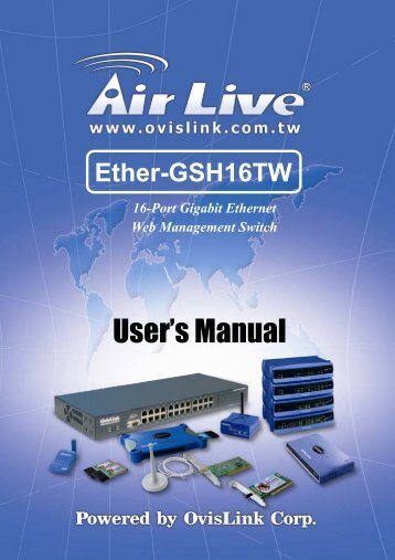 AirLive Ether-GSH16TW Manual - kamery airlive airlivecam