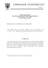 Benützungsordnung für die Kunsteisbahn der Stadt Lindau ...