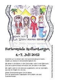 Ferienspiele Rothenbergen, 4.-7. Juli 2012 - emk-rothenbergen.de