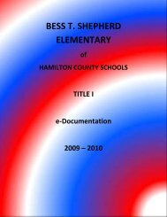 bess t. shepherd elementary - Hamilton County Department of ...