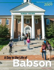 President's Report 2009 - Babson College