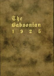 1925 Babsonian - Babson College