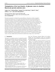 Manipulation of the local density of photonic states to elucidate ...