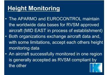 RVSM - Height Monitoring