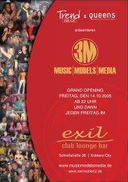 www.musicmodelsmedia.de GRAND OPENING FREITAG, DEN ...