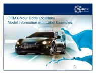 OEM Colour Code Locations Model Information with Label ...