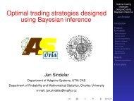 Optimal trading strategies designed using Bayesian inference