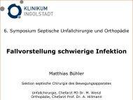 Dr. Buehler, Fallvorstellung schwierige Infektion - Septische Chirurgie