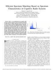 Efficient Spectrum Matching Based on Spectrum ... - KAIST
