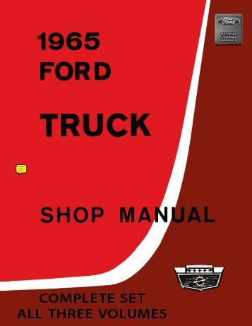DEMO - 1965 Ford Truck Shop Manual - ForelPublishing.com