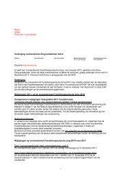 Naam Adres Postcode + woonplaats Verlenging overeenkomst ...