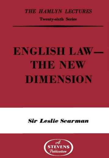 english law the new dimension - College of Social Sciences and ...