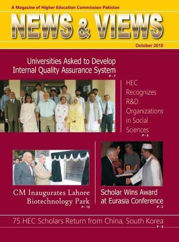 Magazine October 2010 - Higher Education Commission