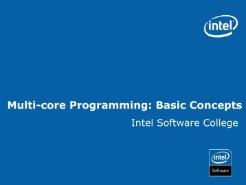 Multi-core Programming: Basic Concepts