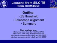 Lessons from SiLC TB Outline: ZS threshold ... - Zeus - Desy