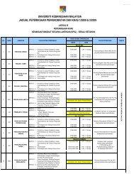 Jadual B 2009 - Universiti Kebangsaan Malaysia